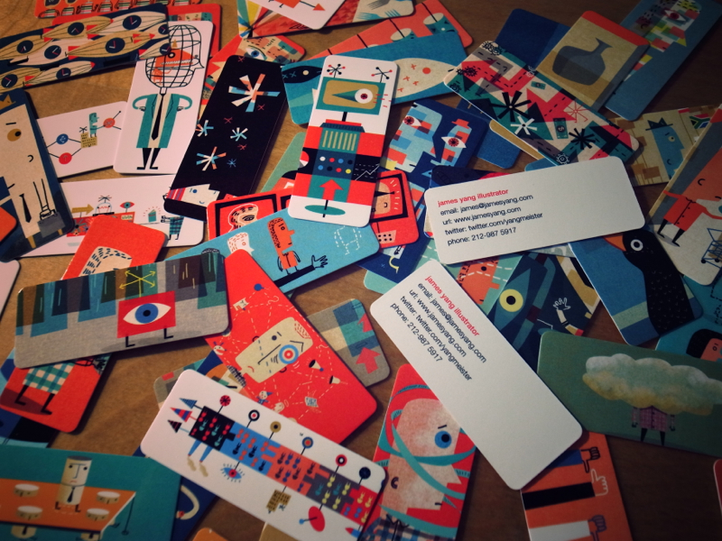 100 minicards for moo interview with rockpaperink james yang